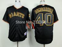 2013 cheap baseball shirt san farncisco giants #40 bumgarner  men's stitched baseball jersey, free ship