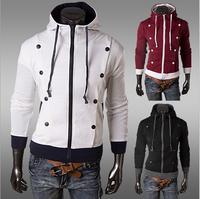 2014 Hot Men's Jacket Baseball Fashion Jackets Hoodies Cardigans Coat Male Outwear Jackets Free Shipping M,L,XL,XXL 1401W88