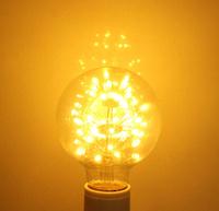 E27 LED Bulb G80 3W Warm White G80 Edison Style Light Bulb Globe Retro 220-240V Decoration Style