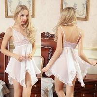 Free shipping 2015 New arrival chiffon lace sexy lingerie nightwear Women sleepwear -G19