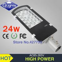 Wholesale free shipping 12V 24V AC85-265V 24W led street light IP65 Bridgelux 130lm/W chips led streetlight 3 year warranty
