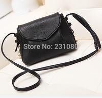 Punk Style Fashion Handbags Shoulder Messenger Bag Diagonal Rivets Small Bag