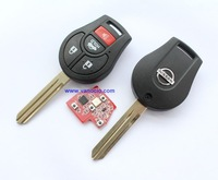 for Nissan March , Sunny car 4 button remote key 433mhz with ID46 transponder chip