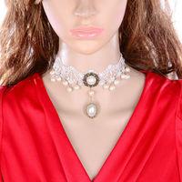 Fashion Gothic black lace necklaces & pendants short design necklace chain women accessories false collar DL3333