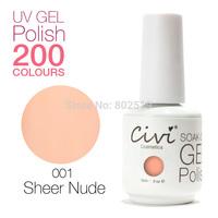 Civi Nail Gel Soak off UV nail gel 30 days Long Lasting 200 Gorgeous Colors The Best Gel Polish Choose 8 Colors