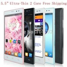 "5.5 "" 5.5 pulgadas QHD capacitiva original Smartphone Android 4.4 MTK6572 Dual Core RAM 512MB ROM 4GB Desbloqueado WCDMA GPS + 6 REGALOS libres(China (Mainland))"