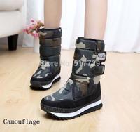 New Hot-Sale Women's waterproof Snow Boots outdoor high-leg platform snow shoes thickening high boots
