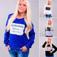 New Woman Letter Printed Sweatshirts Hoody Spring Autumn Moleton Feminine Loose Pullover Casual Long Sleeve Sportswear ic852744
