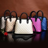 2014 bags fashion embroidery plaid one shoulder cross-body portable women's shell bag