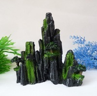 Aquarium Decoration Hill Tree Rockery for fish Tank Resin Ornaments H17cm*L15cm free shipping