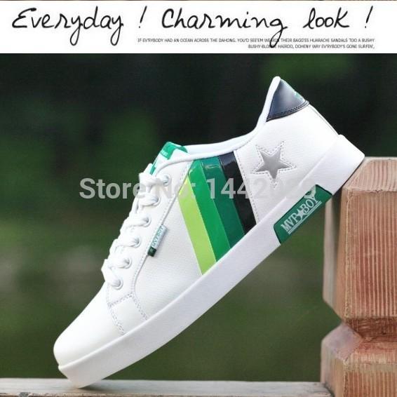Мужчины в обувь спорт свободного покроя марка скейтбординг обувь мужчины кроссовки большие размер 39 - 44 KW0018 три цвета