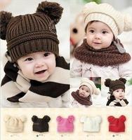 New baby girl's boy's hats caps EU style winter spring health cotton headgear comfortable warm candy color cute bernat biggin