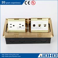 DCT-638/GBD IP44 Brass Slow Pop Up Type Waterproof Floor Outlet