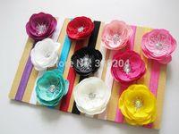 20pcs/lot Wholesale Handmade Hot Selling Flower Headband with Rhinestone