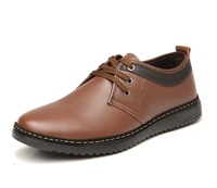 New British fashion men's business casual shoes for men of England men's leather shoes blue black brown