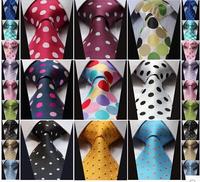 Men's Suits Ties Necktie New Classic Dot Tie Gravata WOVEN JACQUARD Silk
