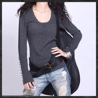 Free shipping Europe and America O-neck cashmere winter sweater simple long-sleeved wool sweater women sweaters and pullovers