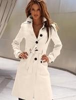 Free shipping 2015 fashion winter women long design woollen&blends trench coats outwear for women l1243