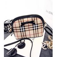 2014 plaid shell women's handbag fashion vintage fashion messenger bag