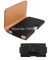 1 Pcs 5.5 inch Black Pouch Leather Case Belt Clip For Lenovo P780 S820 A850 K910 S860 Phone Bag