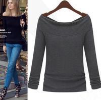 2015 Spring Autumn Fashion Shirts O-neck T-shirt Woman Clothing Female SHIRTS-65722