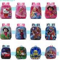 baby spider-man & Frozen 3D design of children's school bags, boys girls cartoon shoulder bag, elementary school backpack