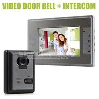 Home Color Video door Phone Doorbell Intercom System 7 inch LCD Monitor Hand Free Waterproof IR Night Vision Camera SY812MA11