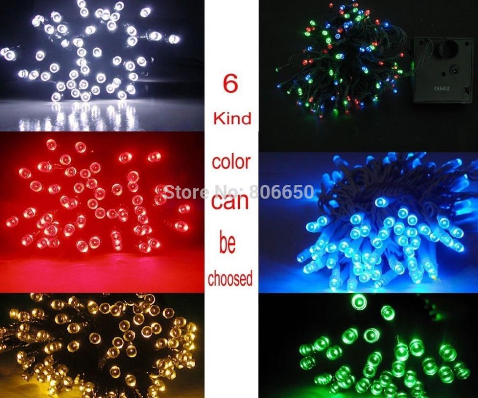 12m 100 LED Solar light ,Fairy Light home & garden,weddings & events,free shipping(China (Mainland))