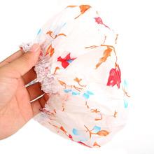10 PCS Women Lady Waterproof Elastic Plastic Shower Bathing Bouffant Salon Hair Cap Hat #ZH059(China (Mainland))