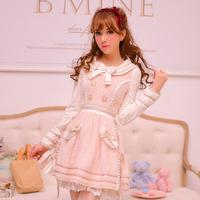 Princess sweet lolita dress Candy rain original Japanese style new winter warm Cute Preppy Style Sailor Collar mohair dress CR05