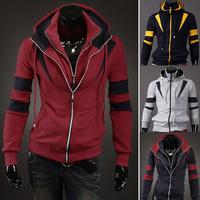 2014 Hot Casual Men's Jacket Baseball Fashion Jackets Hoodies Cardigan Coat Male Outwear Jackets Free Shipping 1600 M~XXL