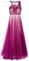 Purple Long Dress Hard Unique Designer Slim case for apple iphone 5 5S 5G
