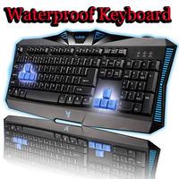 Waterproof Gaming Keyboard USB Wired mechanical Feel Gaming PC/Laptop Keyboard Teclado Gamer Computer Peripherals