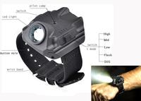 new Wristlight mini led light sports light handlight The perfect flashlight 5 mode Wrist light with Compass
