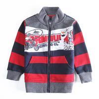 Wholesale Nova Coat Children Boys Jacket Coat Zipper Coat Fashion Striped Cotton Autumn Clothes for Child Boy's Outwear A5468D