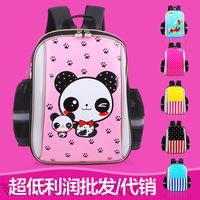 New PU leather waterproof cartoon children school bags kids backpack mochila infantil noctilucence sports bag for girls boys