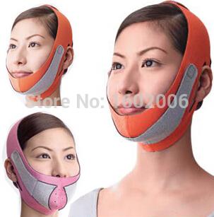 FreeShipping Powerful slimming thin face lift mask massage tool 3D correction bandage artifact(China (Mainland))