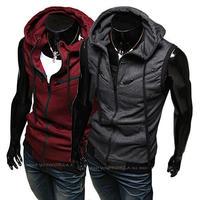 Men Jacket Top Brand Men Dust Coat Hoodies Clothes Sweater Overcoat Outwear Cardigans Vest M~3XL  WZ10A