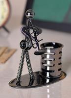 Free shipping, Pen holder Pen modern brief fashion desktop decoration, iron home decoration ,crafts gifts