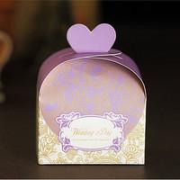 GAGA ! Free shipping 7*4*12 (cm )  purple pattern wedding candy boxes  200 pcs/lot ,CF30-3