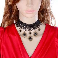 DL3338 Wholesale 12pcs/lot Handmade design lace necklace & pendant women short evening dress accessories Gothic choker necklace