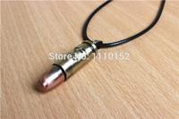 hot -Unique Bullet Shape Pendant Necklace Boy Man Fashion Jewelry
