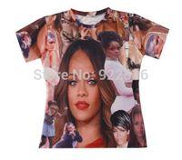 2015 new men/women 3D T-shirts print Beyonce 3D Novel Digital Tops T-shirt S M L XL XXL
