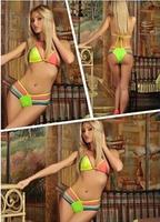 Hot Women Push Padded Swimwear Swimsuit Ladies Sexy Bikini Set Vintage Beach Wear Fashion bikini breast Free shipping