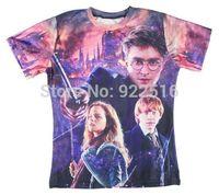 2015 new men/women 3D T-shirts print Potter 3D Tops T-shirt S M L XL XXL