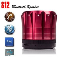 S12 Bluetooth Speakers Hot Portable Bluetooth Speaker Wireless MINI Stereo TF Card Super Bass Alloy Body MP3 Player Eight Colors