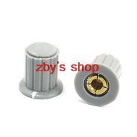 2pcs 4mm Split Shaft Dia Rotary Pot Potentiometer Control Knob KYP16-16-4