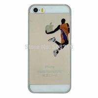 Fashion Jordan Bryant Shoot a Basket Transparent  Hard Cover Back Case For iphone 6   For iphone 6 Hard Case Hot