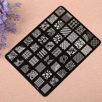 Flower Design Nail Art Templates Image Stamp Plates Polish Stamping Manicure Image