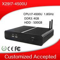 With high-powered CPU mini desktop computer thin client support windows 7 X29-i7 4500u 1.8GHz Celeron Dual core 4gb ram 500 hdd